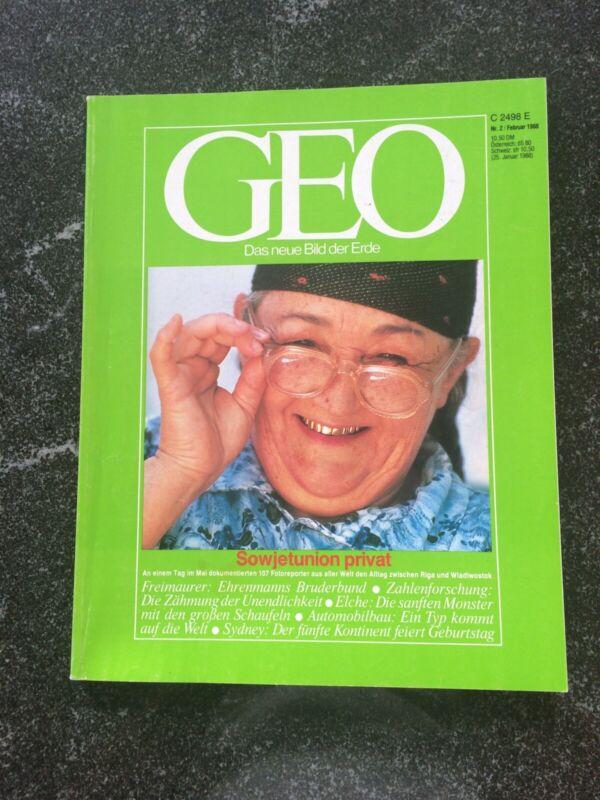 """GEO Das neue Bild der Erde """"Sowjetunion privat"""" Februar 1988"""