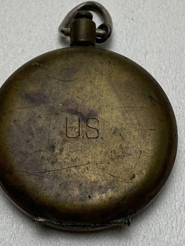 Rare WWII U.S. Needle Operation Brass Pocket Compass S & W NY. *Glass Broken