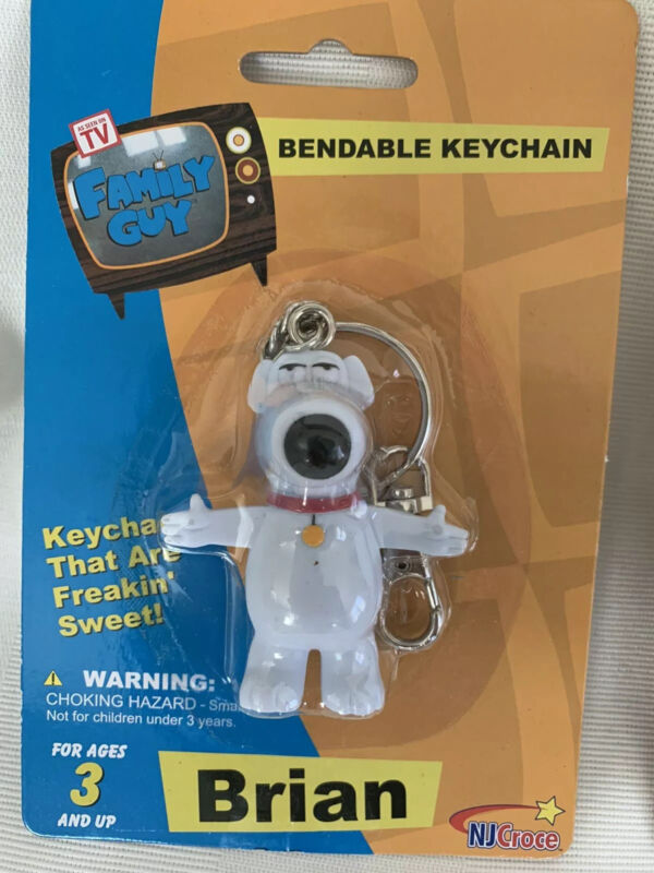 Family Guy BRIAN Bendable Key chain NEW Factory Sealed Keychain TV Show dog