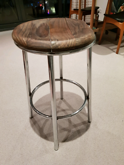 Wooden stool Southbank Melbourne City Preview