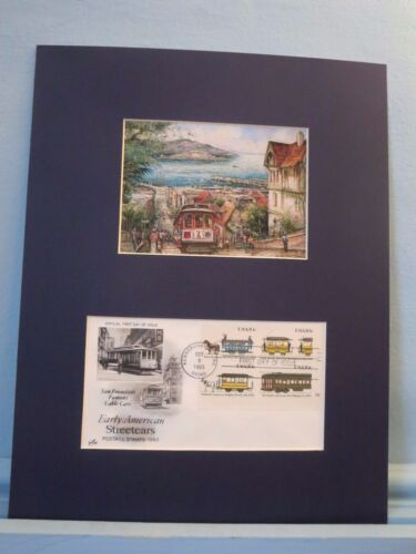 The Cable Car on Hyde Street in San Francisco & First Day Cover of its own stamp