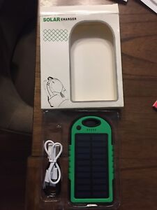 Solar charging battery backup phone charger many uses