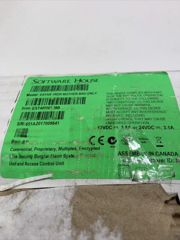 Software House ESTAR001-MB Estar 1RDR Mother BRD Only iSTAR Edge Controller