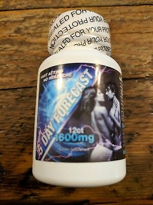 5 Day Forecast 1600 Male Sexual Supplement Enhancement 12 Pill Capsules Bottle
