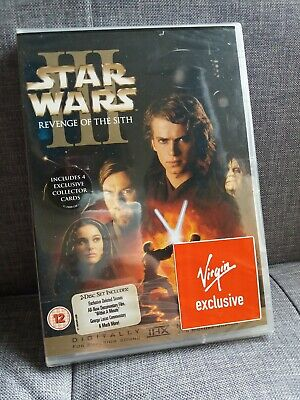 Star Wars: Episode III Revenge of the Sith (DVD) *New & Sealed* Virgin exclusive