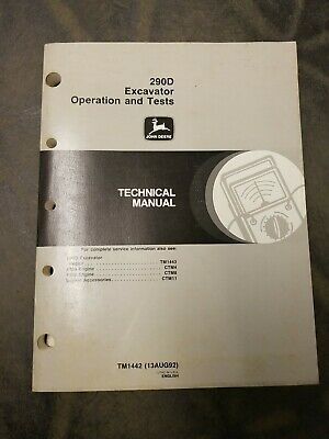 John Deere 290d Excavator Operation And Tests Technical Manual