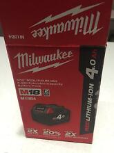 Milwaukee 4.0Ah Red Lithium-ion battery pack - M18B4 - NEW Turners Beach Central Coast Preview
