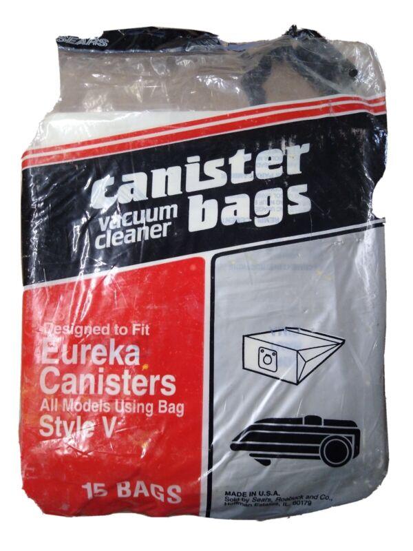Sears Eureka Vacuum Bag Style V 8 Bags in an open pack
