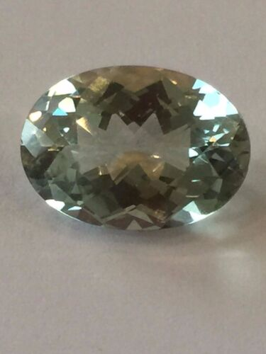 Genuine Prasiolite Amethyst 14 X 10.1 X 7.18 MM Checkerboard Oval 5.5 CT