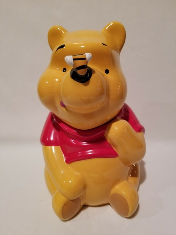 Vintage Disney Treasure Craft Winnie The Pooh Cookie Jar Bee On Nose