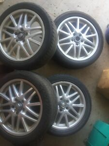 "ASA Rims 17"" with tires X4"