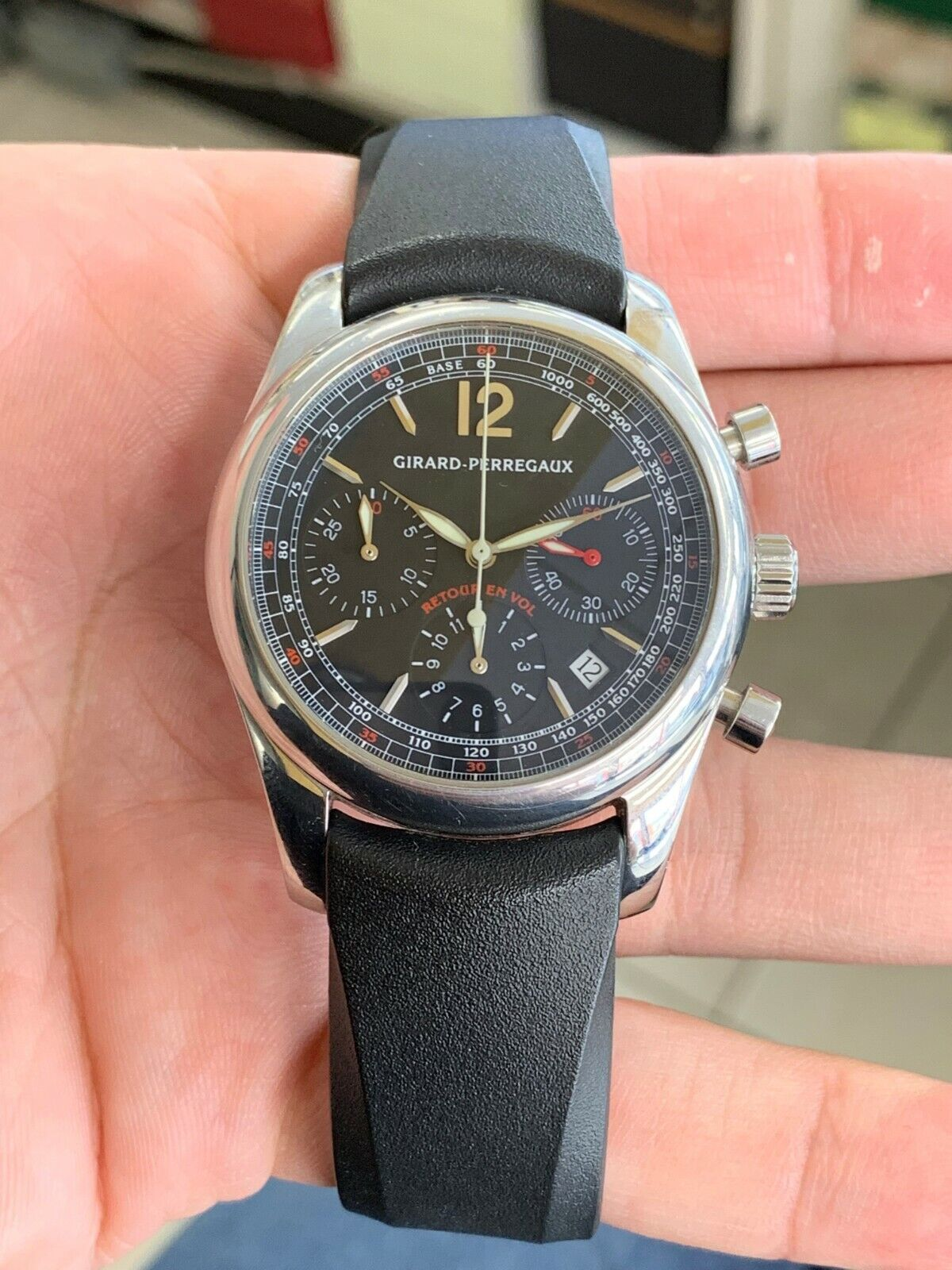 Girard Perregaux Flyback Chronograph Automatic Black Dial Reference: 4958 - watch picture 1