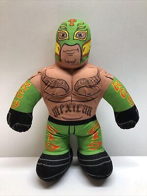"WWE Brawlin' Buddies 16"" Plush Rey Mysterio Doll Green Mask Mattel *Not Working"