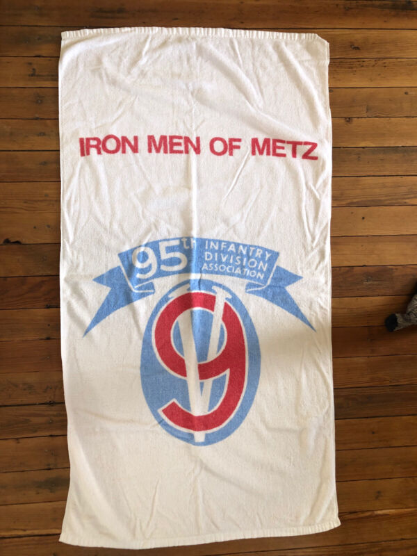 95th Infantry Division Beach Towel - IRON MEN OF METZ- Vintage Rare