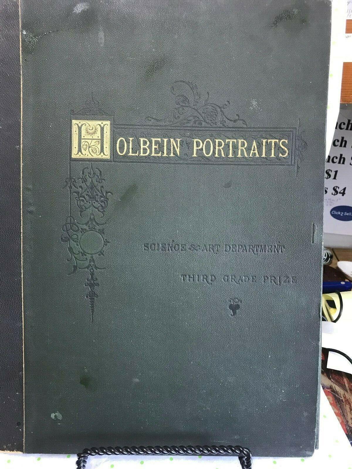 HOLBEIN RED CHALK PRINTS-PRESENTATION PIECE---1879---VERY RARE-copher-