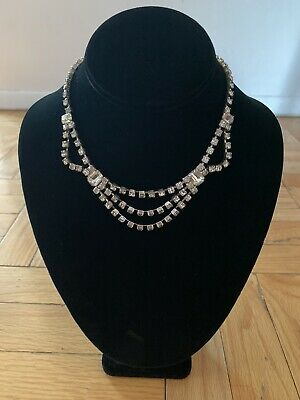 1950s Jewelry Styles and History Vintage 1950s Diamante Choker Necklace $45.00 AT vintagedancer.com