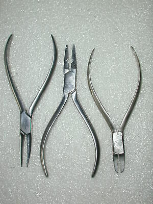 A Lot Of 9 Assorted Orthodontic Pliers Lot 2