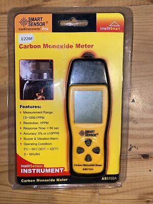 Handheld Carbon Monoxide Meter Portable Co Gas Leak Detector Analyzer 1000 Ppm