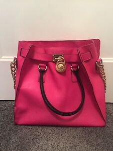 Michael Kors Large Hot Pink Hamilton Tote Bag