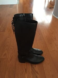 Leather dress boots - women's size 35