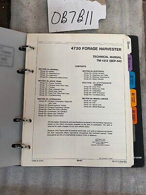 Oem John Deere 4720 Forage Harvester Technical Service Manual Tm1312 In Binder
