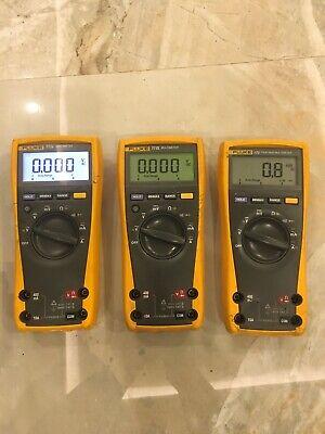 3x Fluke 2x Fluke 77 Iv Digital Multimeter And One Fluke 175 Multimeter