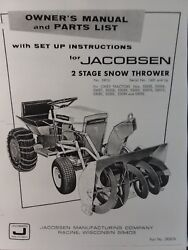 jacobsen chief garden tractor 36 snow thrower owner & parts manual 1200 1000