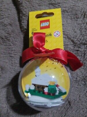 LEGO Holiday Ornament CHRISTMAS SNOW HUT Bauble with ribbon 850949 house (Designer Hut)