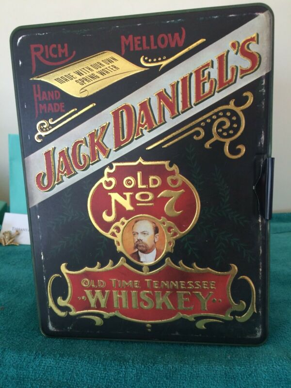 RARE JACK DANIELS TIN Special Poker Chips, Two SEALED Decks/PAPERWORK/COOL SET!