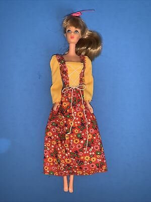 1976 Barbie Best Buy 9575 Floral Dress With Lace Up Bodice NO DOLL