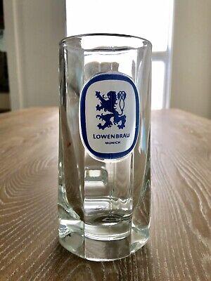 VINTAGE LOWENBRAU MUNICH 8oz Glass German Beer Mug Stein