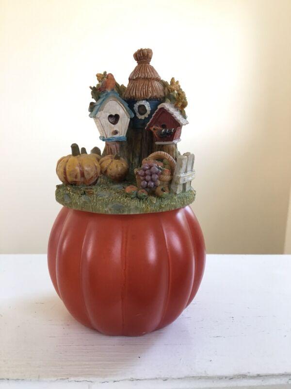 Yankee Candle * Pumpkin With Topper * Tea Light/Votive Holder