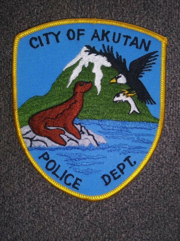 CITY OF AKUTAN, ALASKA AK POLICE DEPARTMENT - PATCH - OLDER *** PROTOTYPE ***