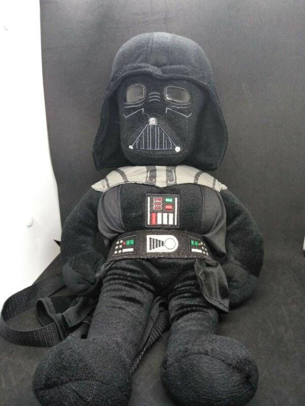 Star Wars Darth Vader Plush Stuffed Backpack Helmet Cape Adjustable Straps