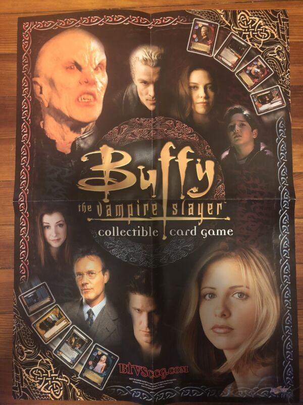 "Buffy Vampire Slayer Card Game Promotional Poster 16""x22"" Sarah Michelle Gellar"