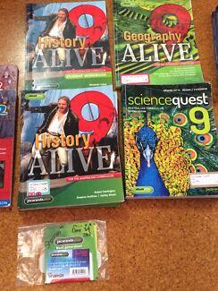 Text books Yr 9