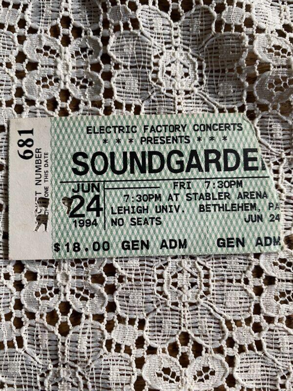 1994 SOUNDGARDEN PHILADELPHIA CONCERT TICKET STUB SUPERUNKOWN TOUR CHRIS CORNELL
