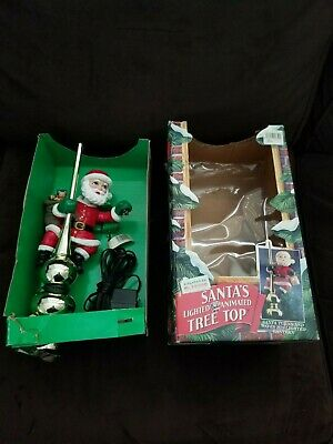 Mr Christmas Santa's Tree Topper Animated Lighted in Box #2