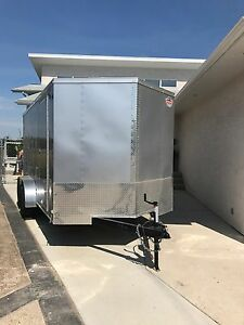 Deluxe 7x14 enclosed trailer (new)