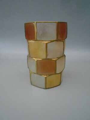 PERIOD RETRO CAPIZ LIGHT SHADE CYLINDER SHAPE