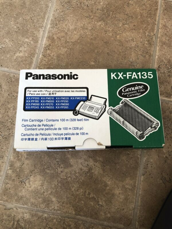 Genuine Panasonic KX-FA135 Fax Machine Film Ribbon Sealed New Sealed