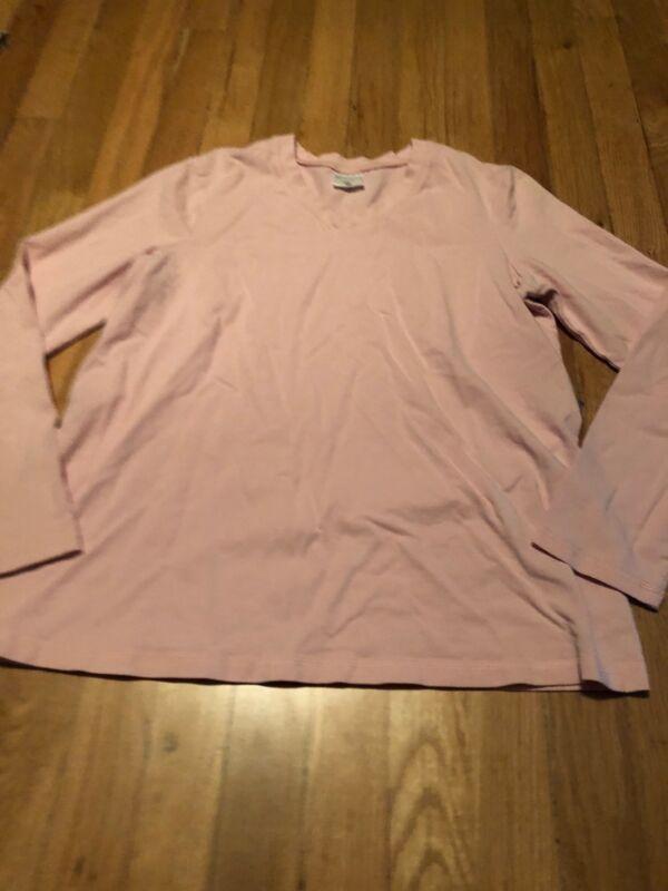Motherhood Maternity Womens Pink v neck Long Sleeve Shirt Small