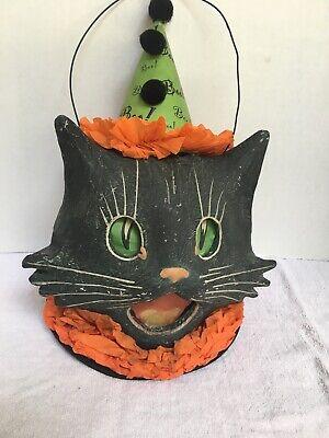 Bethany Lowe Designs Halloween Sassy Cat Lantern