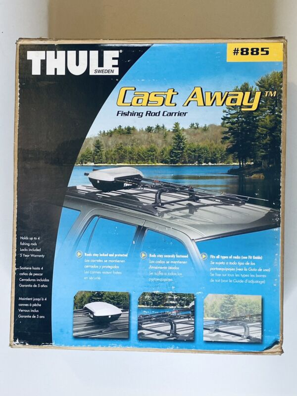 Thule Cast Away Castaway 885 Fishing Rod Carrier Discontinued Open Box