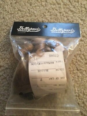 - Dollspart Doll Wig Size 7 Blonde Baby Curl on Top New in Package Style 01030