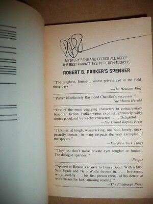 Spenser Promised Land 4th Robert B. Parker vintage paperback signed autographed