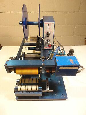 Label Mill Lm-1000tts Semi-automatic Round Bottle Labeling Applicator Machine
