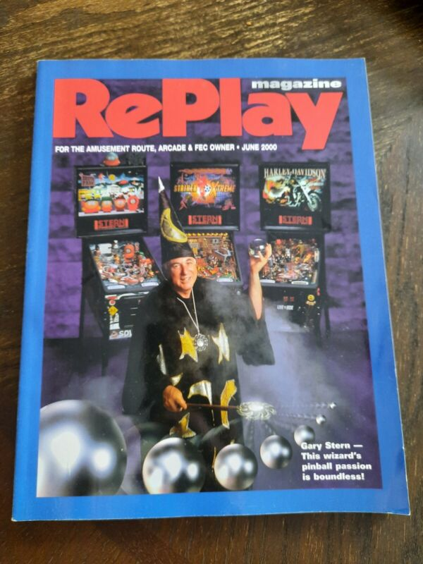 RePlay Magazine June 2000 - Gary Stern - Arcade Video Games Pinball Rare Flyers