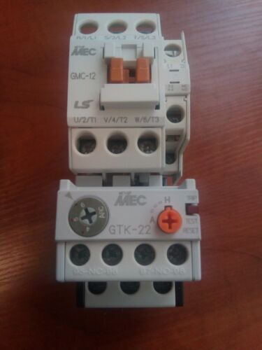 Original LS GMC-12 Contactor 5.5kW 12A Coil AC230V + Overload Relay GTK-22(4-6)A