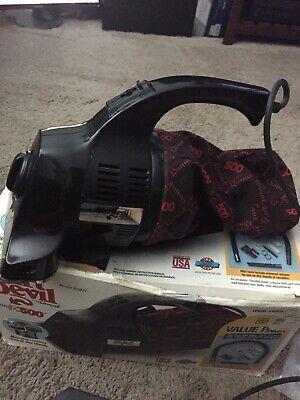 Royal Dirt Devil Hand Vac Vacuum Model 500MT Red Bag Made in USA